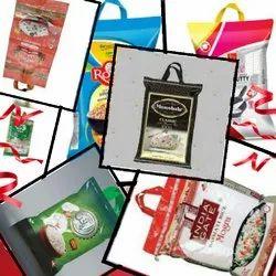 HDPE BOPP Handle Rice Bag, Capacity: 10kg