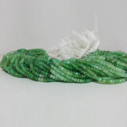 Rondelle Natural Chrysoprase Beads 4mm, Size: 3-4mm