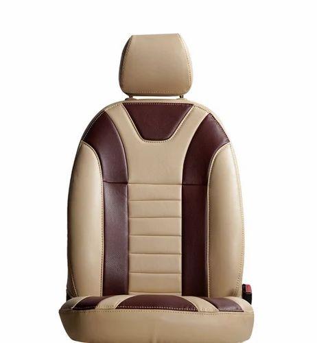 Brown And Cream Triumph Car Seat Cover