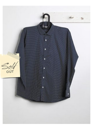 Men Cotton With White Dotted Shirt