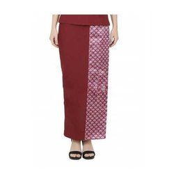 UB-TROU-13 Maroon Thai Pant For Women