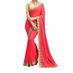 Ladies Fancy Saree, With Blouse Piece