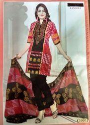 Printed Cotton Salwar Suit Set