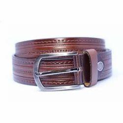 Zago Textured Brown Leather Belt