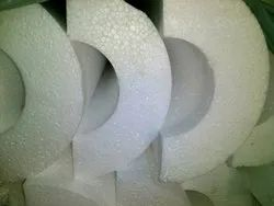 White Thermocol Pipes Sections, For Packaging