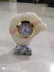 Modern Agate Table Clock