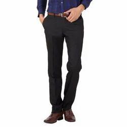 Mens Black Flat Trouser