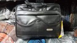 Soft Genuine Leather Black Handbag