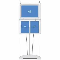 Polyester Blue Double Sided Poster Stand, For Advertisement