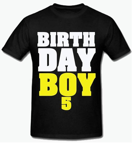 Black Polyester Sprinklecart 5th Birthday T Shirt