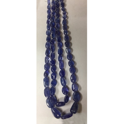 Tanzanite Plain Tumble Bead