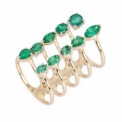 Gemstone Long Ring
