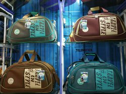 Multicolor Matty And Leather Wheeler Bags