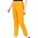 Round Off Women Ladies Plain Cotton Pants