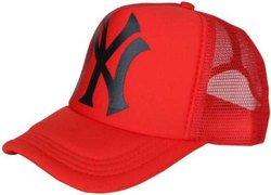 Ny Red Netted Baseball Caps and Hats