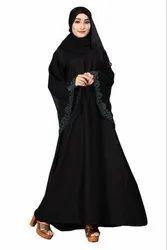 Women's Nida Plain Islamic Abaya Burqa With Diamond Stone With Dupatta