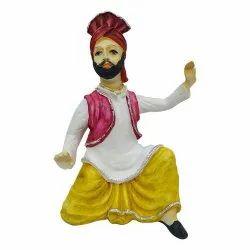 Men Bhangra Dancing Statue