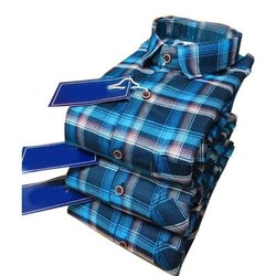 Casual Wear Checks Mens Stylish Cotton Checked Shirt, Machine wash, Size: M-xl