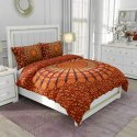 Rajasthani Mandala Cotton Tc120 Hand Block Printed Double Bed Sheet And Two Pillow Cover