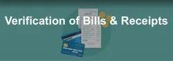 Verification of Bills & Receipts