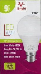 Ceramic And Aluminum 9 Watt 270 Degree LED Bulb, 10 W