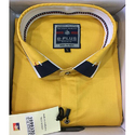 B Plus Plain Yellow Formal Shirt