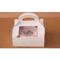 6 Cavity White Dome Shape without Window Cupcake Box