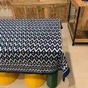 Cotton Blue Dabu Print Square Table Cover