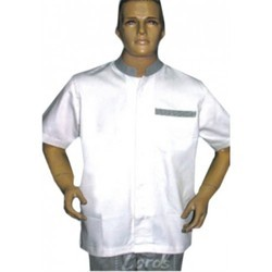 Chef Coat Short Sleeve Assistant Chef Wear White With Checks Trimming