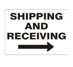 Black On White Shipping and Receiving Signs