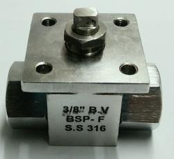 Compact Screwed End BV Valve