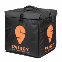 Insulated Fabric Made By Nylon Black Manufacturer of Swiggy Delivery Bags, Bag Size: 14 * 14 * 14 Inches
