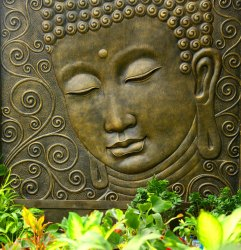 Rectangle Statue Studio Water Fountain Relief Buddha