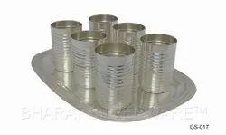 Pure Silver Designer Tumbler Set