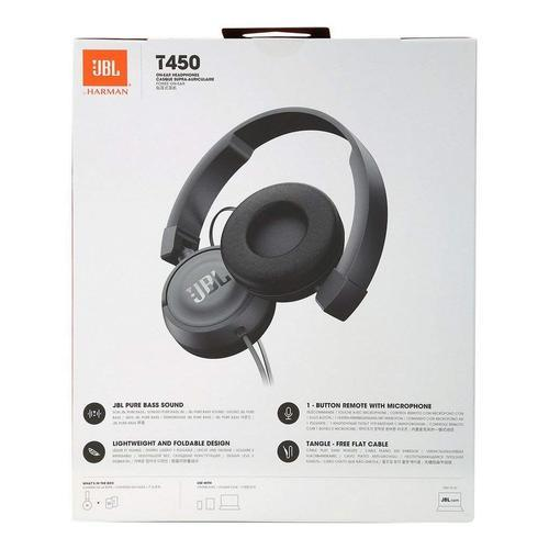 31c16855317 JBL T450 On-Ear Headphones with Mic (Black), जेबीएल ...