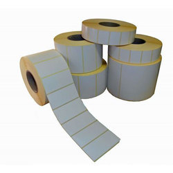White Self Adhesive Label, Packaging Type: Packet
