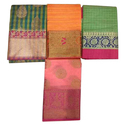 Party Wear Fancy Banarasi Cotton Saree, Packaging Type: Packet
