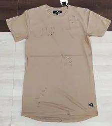 Cotton Plain Men's Tshirt, Size: Large