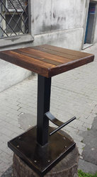 Industrial Steel And Wooden Bar Stool, Industrial Furniture