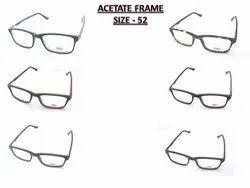 Plastic Acetate Eyeglass Frame, Packaging Type: Box