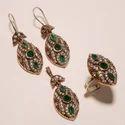 Copper Turkish Stylish Ring Pendant Set