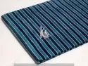 Indigo Blue Dabu Striped Block Print Cotton Fabric