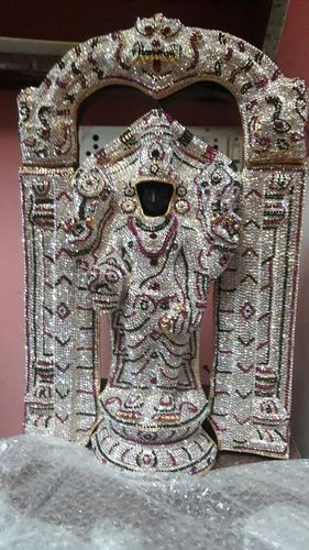 Lord Balaji With Special Stone Studded Kavacham 1 1/2  Ft
