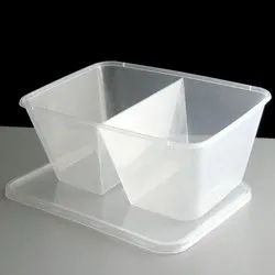 2 Sections Food Packaging Container