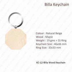 Wooden Keychain-KC-12-Billa Keychain