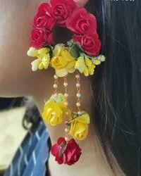 Hanging Wedding Floral Earrings