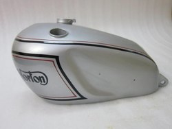 New Norton Dominator Model 7 Silver Painted Petrol Tank (Reproduction)