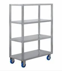 Mild Steel Tufftec Mobile Shelf Trolley, Loading Capacity: 500 Kg /Layer
