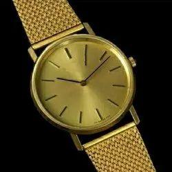 Men Golden Fashion Brass Analog Watches