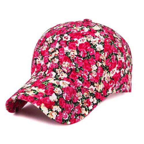 f6ff01b4520 Novasox Beige And Brown   Hot Pink Antique Floral Print Baseball Cap ...
